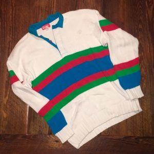 Rugby style vintage sweater sweatshirt